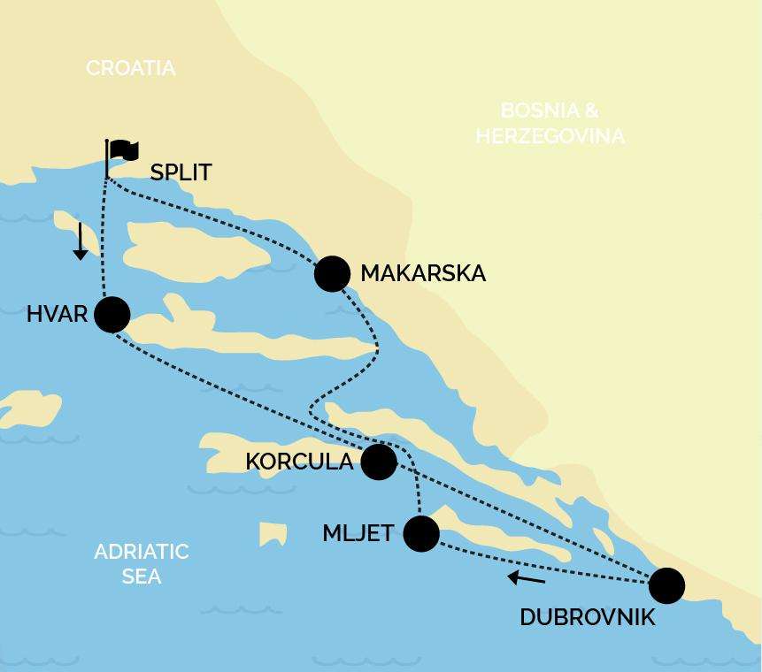split return south itinerary one