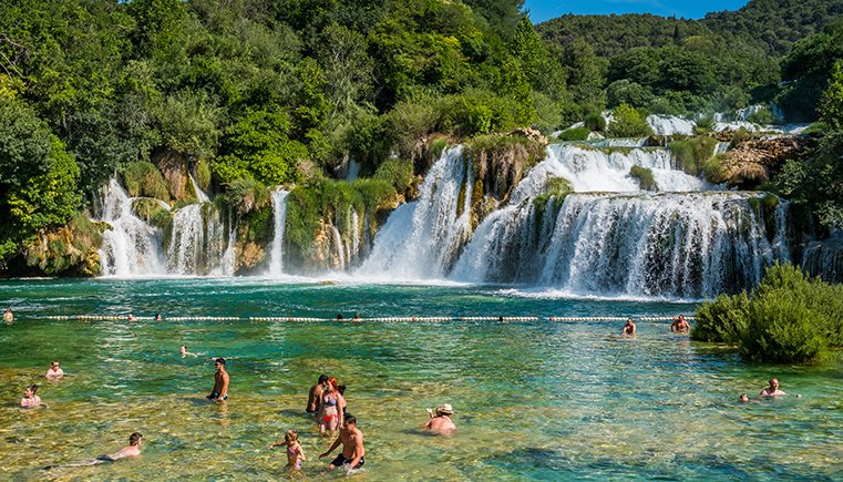 Swim at Krka