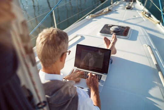 Working remotely onbaord a yacht