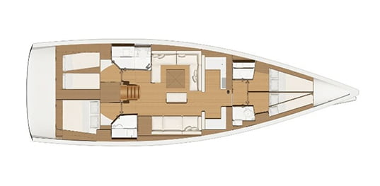 Dufour 520 GL plan view